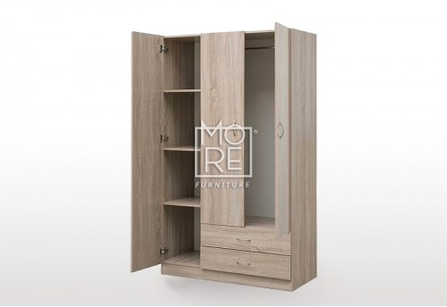EVE MS Utility Robe MDF Wardrobe Oak