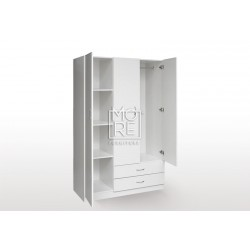 EVE MS Utility Robe MDF Wardrobe White