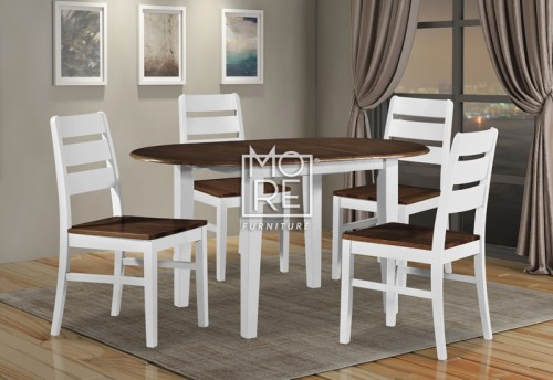 Tempe 5Pce Extension Timber Dining Suite