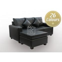 LG SB 3 Seater Chaise PU Leather (Custom Made)