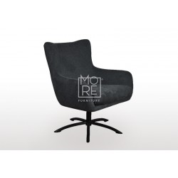 Bella Fabric Accent Chair Charcoal