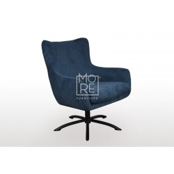 Bella Fabric Accent Chair Dark Blue