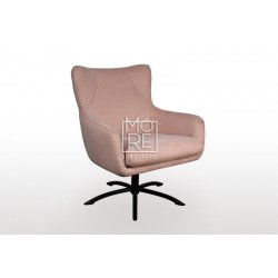 Bella Fabric Accent Chair Pink