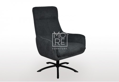 Chloe Fabric Accent Chair Charcoal