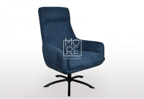Chloe Fabric Accent Chair Dark Blue