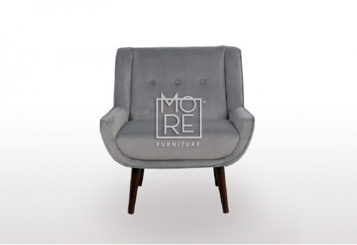New York Velvet Accent Chair Grey
