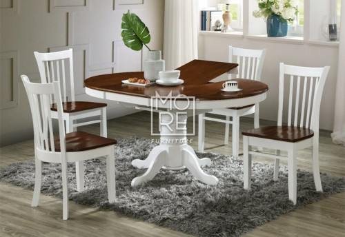 Casino 5Pce Round Extension Timber Dining Suite