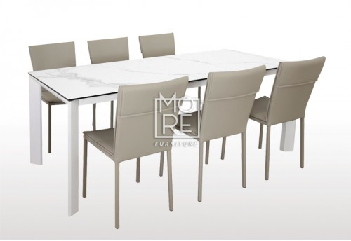 Madrid 7Pce Spanish Ceramic Dining Suite