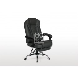 DB PU Leather Office Chair with Foot Stool Black