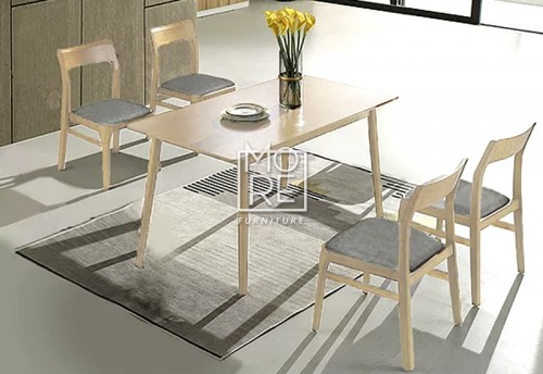 DB Morocco 5Pce Timber Dining Suite White Wash