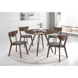 DB Classic 5Pce Round Timber Dining Suite