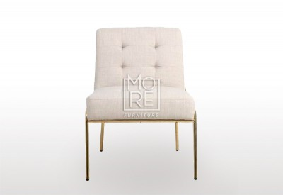 New Port Fabric Accent Chair Cream