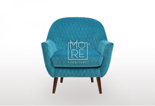 New Orleans Velvet Accent Chair Blue