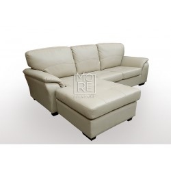 Botany 3 Seater Chaise PU Leather Taupe