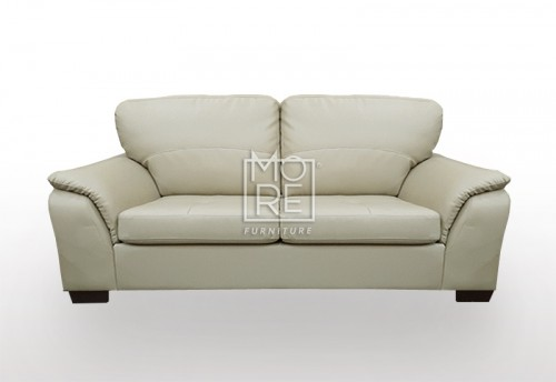 SCF Botany 2.5 Seater PU Leather Sofa Taupe