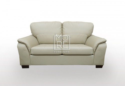 SCF Botany 2 Seater PU Leather Sofa Taupe