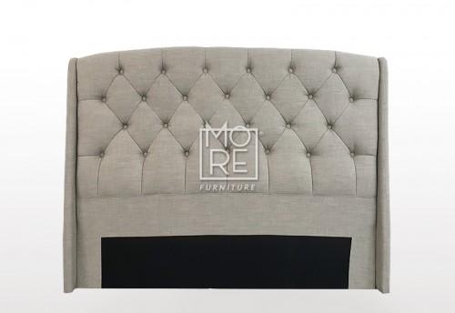 C06 Emily Fabric  Bedhead Cement