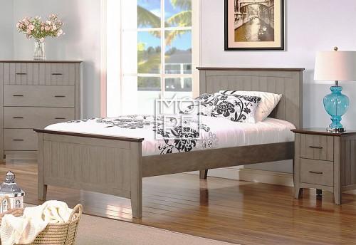 Cooper Poplar Solid Timber Bed Frame