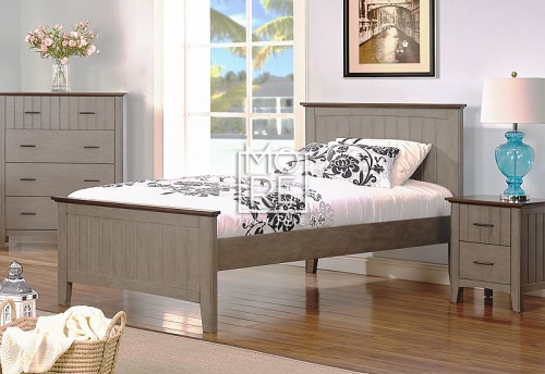 Cooper Poplar Solid Timber Bed Frame