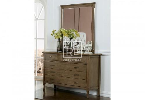 Celeste Poplar Timber Dresser with Mirror