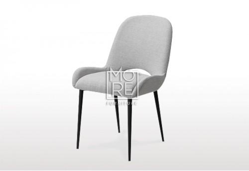 Crown C004 Fabric Dining Chair Light Grey