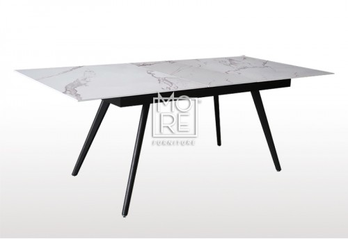 Civic Extension Marble Effect Glass 1.6m~2m Dining Table