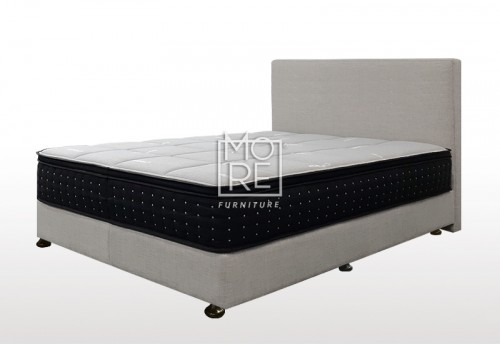 C01 Baxter Fabric Bedhead with Base Cement
