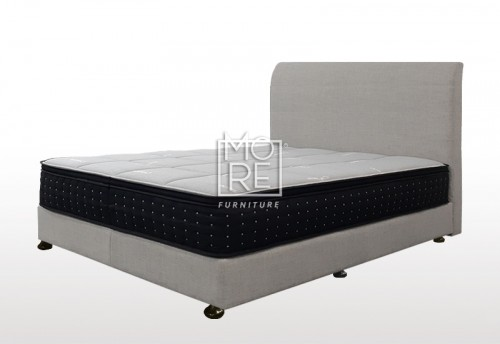 C02 Amelia Fabric  Bedhead with Base Cement