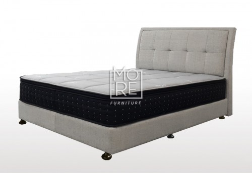 C03 Mirage Fabric Bedhead with Base Cement