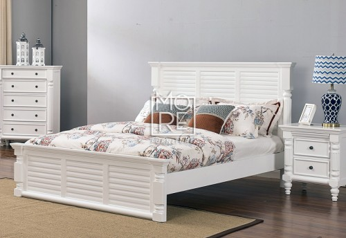 Halifax Poplar Solid Timber Bed Frame White
