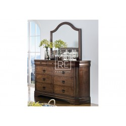 Windsor Poplar Timber Dresser with Mirror