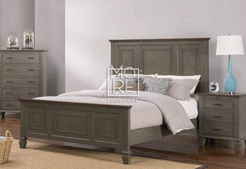 Miranda Poplar Solid Timber Bed Frame 2 Tone