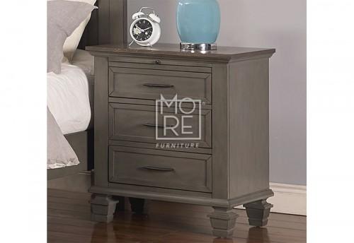 Miranda Poplar Solid Timber Bedside 2 Tone