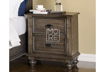 Louvre Poplar Solid Timber Bedside Table