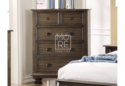 Louvre Chest Poplar Solid Timber Tallboy