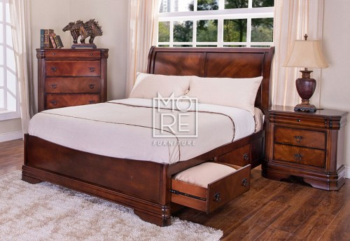Sheridan Poplar Solid Timber Bed Frame with Drawers