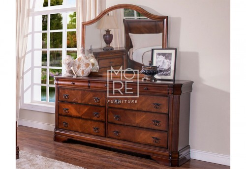 Sheridan Poplar Solid Timber Dresser with Mirror