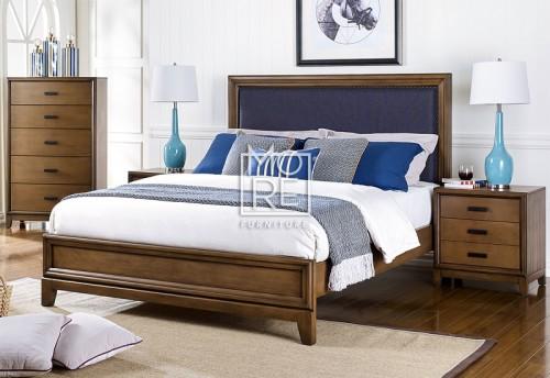 Paddington Poplar Timber Bed Frame with Fabric