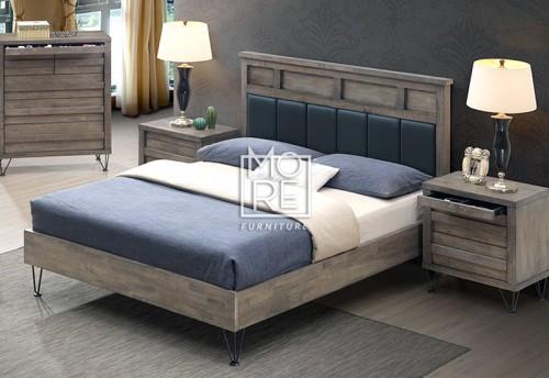 Ragnar Rubber Wooden Bed Frame