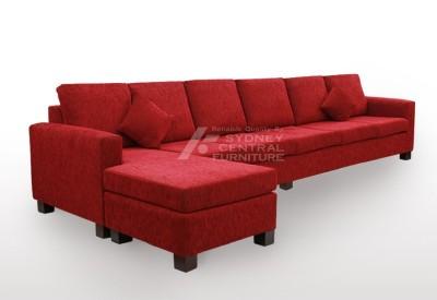 LG SB 6 Seater Chaise Premium Fabric Sofa Bed with Mattress  (Custom Made)