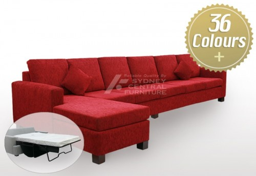 LG SB 4 Seater Chaise Fabric Premium (Sydney Custom Made)