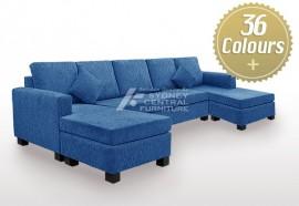 LG SB 4 Seater Chaise Fabric Premium (Sydney Custom Made)