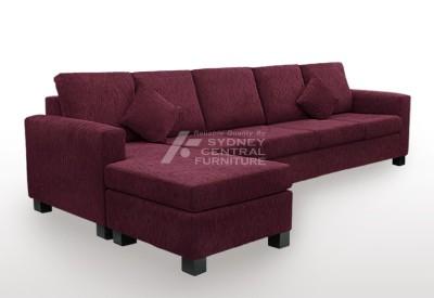 LG SB 5 Seater Chaise Fabric (Custom Made)