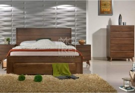 Coral Solid Timber Bed with 4Drawers