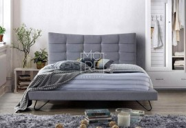 Karla Fabric Bed Mid Grey