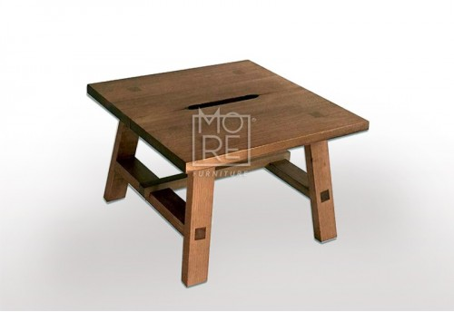 Asari Tassie Oak Timber Lamp Table