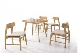 Jessie 5pce Rubber Wood & Oak Veneer Dining Suite