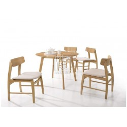 Jessie 5pce Rubber Wood & Oak Veneer Dining Suite