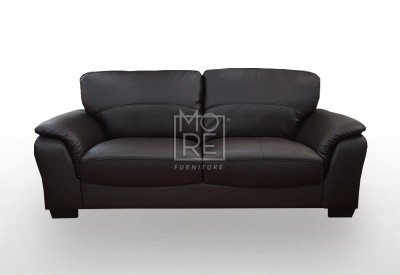 Botany 2.5 Seater PU Leather Sofa Black