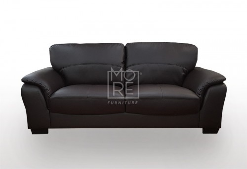 SCF Botany 2.5 Seater PU Leather Sofa Black